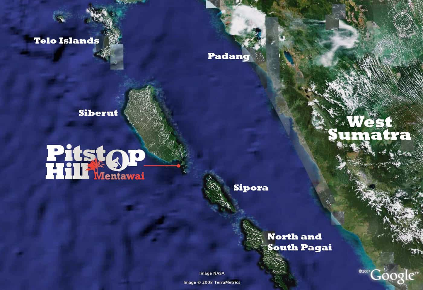 Pitstop Hill - Mentawai Map